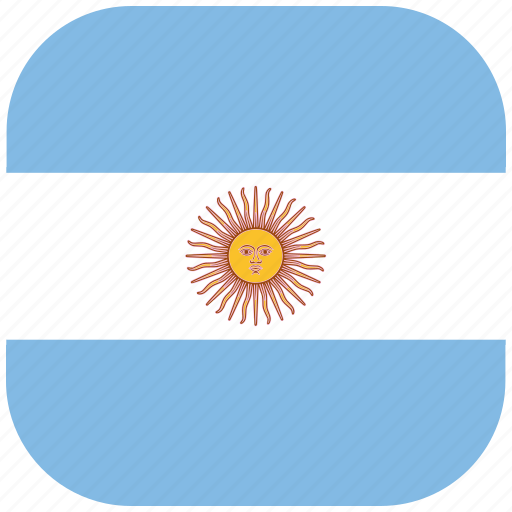 argentina, country, flag, nation, national, rounded, square icon