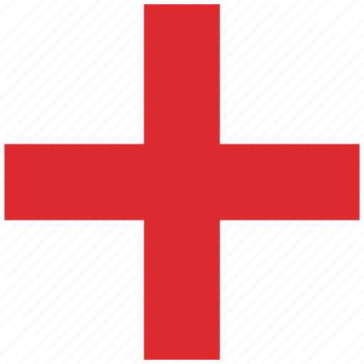 country, england, english, flag, national, rounded, square icon
