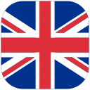 britain, country, great, kingdom, national, rounded, square icon