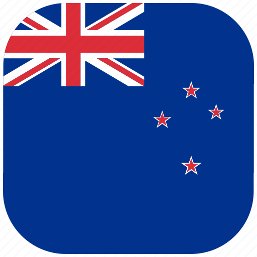 country, flag, national, new, rounded, square, zealand icon
