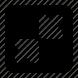 arrows, close, minimize icon