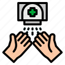 gestures, hands, medical, medication, spray
