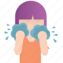 care, cleaning, dialy, girl, routine, skin, wash icon