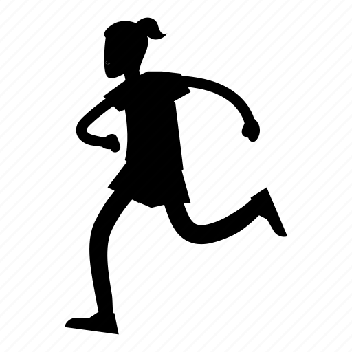 fitness, run, running, sport, sports, woman icon
