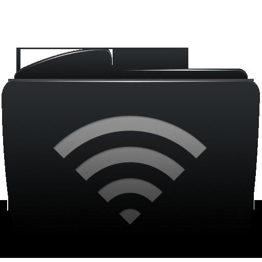 folder, wifi icon