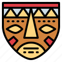 africa, culture, ethnic, mask icon