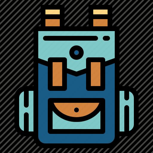 backpack, bag, luggage, travel icon
