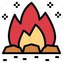 bonfire, burn, campfire, travel icon