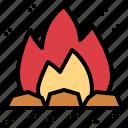 bonfire, burn, campfire, travel