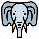 animal, cultures, elephant, mammal icon