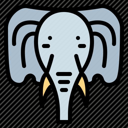 animal, cultures, elephant, mammal icon