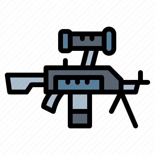 army, gun, shoot, weapons icon