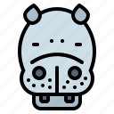 animal, hippopotamus, life, wild, zoo icon