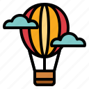 air, balloon, flight, holidays, hot, transportation icon