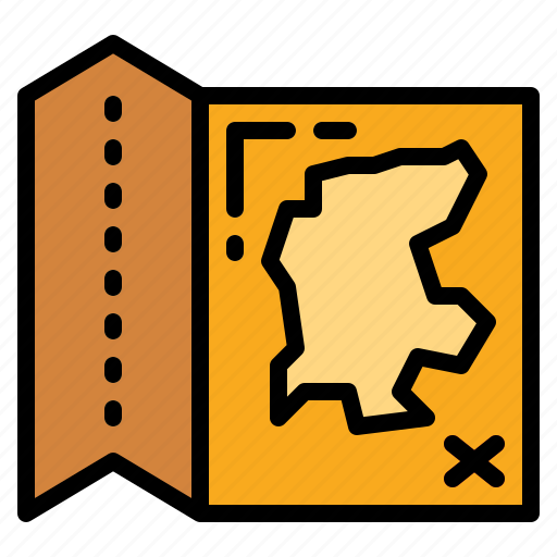geography, map, position, travel icon