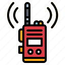 communications, electronics, talkie, walkie icon