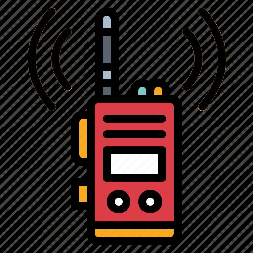 communications, electronics, talkie, walkie icon