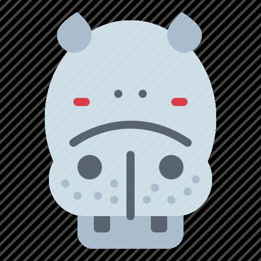 Animal, hippopotamus, life, wild, zoo icon - Download on Iconfinder