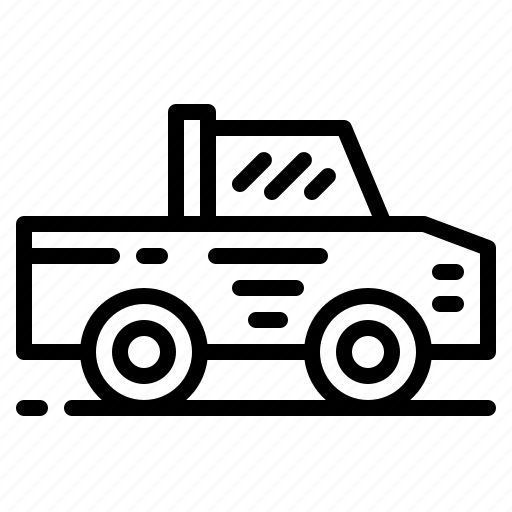 Pickup, transportation, truck, vehicle icon - Download on Iconfinder