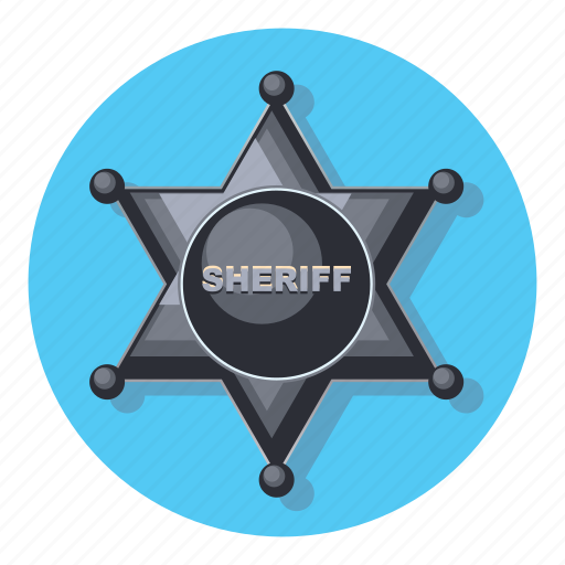 badge, favorite, protection, sheriff, star icon