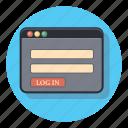 in, log, code, pasword, zoom