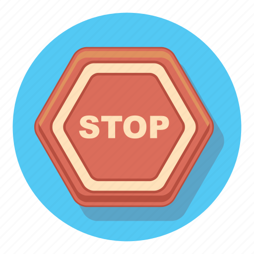 alert, danger, sign, stop, warning icon