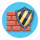 antivirus, guard, secure, shield, wall icon