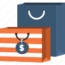 bag, business, commerce, dollar, shopper, shopping, supermarket icon