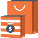 bag, business, commerce, dollar, money, shopper, shopping icon
