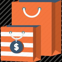 bag, business, commerce, dollar, money, shopper, shopping icon