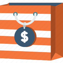 bag, business, commerce, dollar, shopper, shopping, supermarket icon