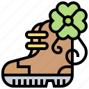 boot, celtic, decorative, footwear, traditional icon