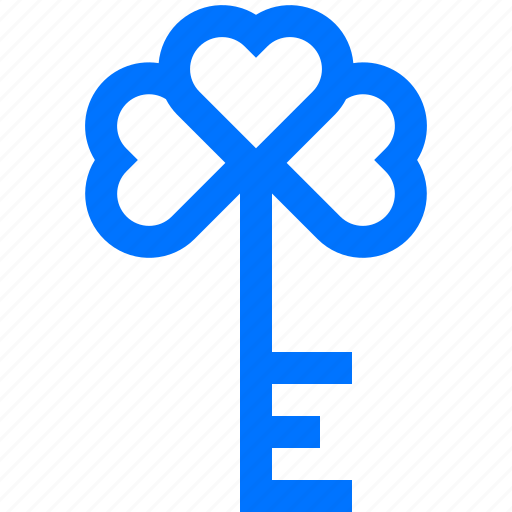Clover, day, key, lock, luck, patrick, saint icon - Download on Iconfinder
