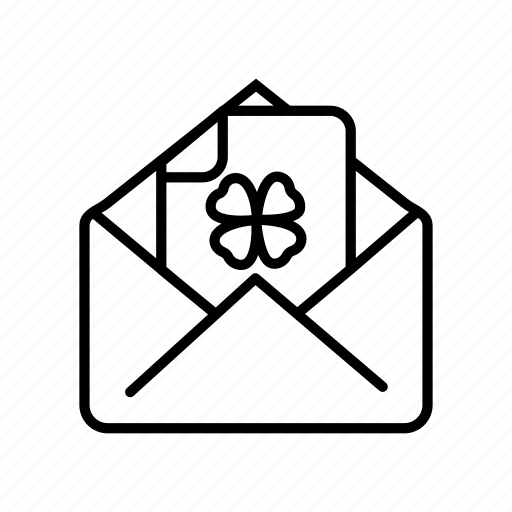 card, enveleope, invitation, mail, message, st patricks day icon