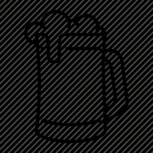 alcohol, beer, beer mug, brew, drink, glass of beer icon