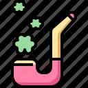 celebration, day, irish, patrick, pipe, smoking, st icon