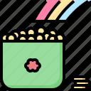 celebration, coins, gold, holiday, patrick, pot, st icon