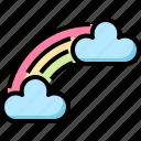 cloud, day, patrick, rainbow, st icon