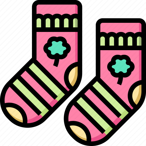 clover, day, patrick, shamrock, socks, st icon