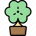 clover, day, luck, patrick, shamrock, st, tree icon