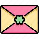 card, clover, day, letter, luck, patrick, st icon