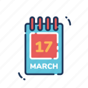 date, patrick day, patricks day, saint patrick's day, saint patricks day, st patrick's day, st patricks day icon