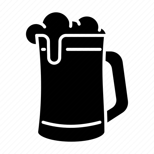 alcohol, beer, beer mug, brew, drink, glass of beer icon