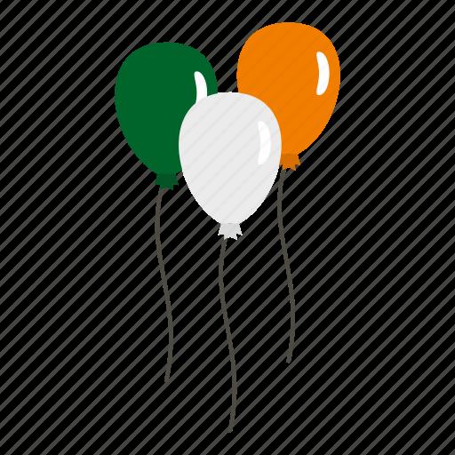 balloon, flag, ireland, mbol, patrick, spring, st icon