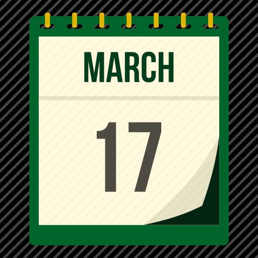 calendar, date, day, ireland, irish, patrick, saint icon