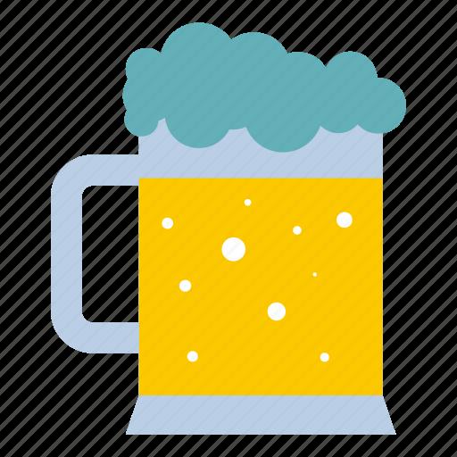 alcohol, beer, beverage, drink, glass, mug, pub icon