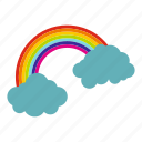 cloud, coin, day, gold, holiday, patrick, rainbow icon