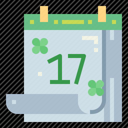 Calendar, clover, cultures, day, patricks, saint icon - Download on Iconfinder
