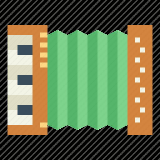 accordion, harmonic, multimedia, music icon