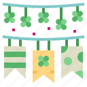 celebration, flag, garland, party icon